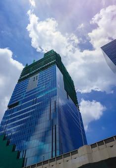 Construção de viga de aço estrutural construir grande residencial