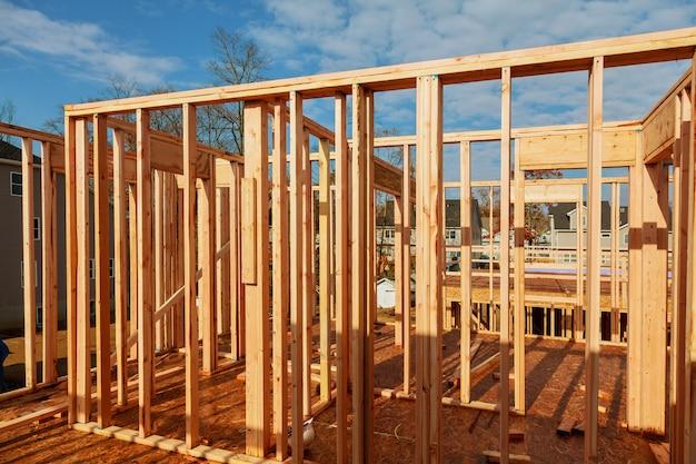 Construção em madeira, para casa, construção de casas