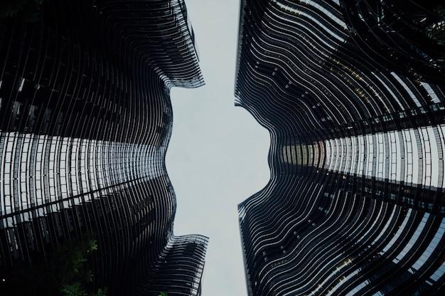 Construção moderna de edifícios