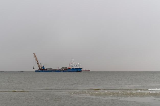 Construção obras marítimas offshore construção de barragem, guindaste, barcaça, draga