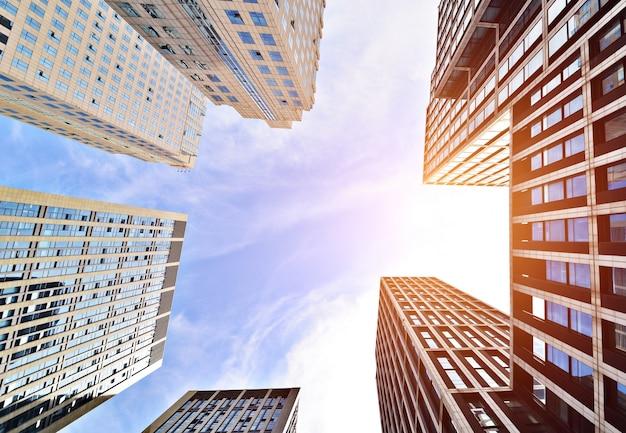 Construir vista de baixo, pôr do sol