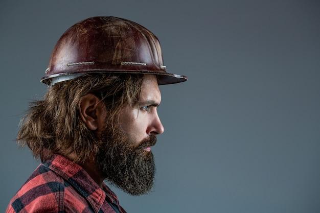 Construtor da indústria de construtores de homem em capacete