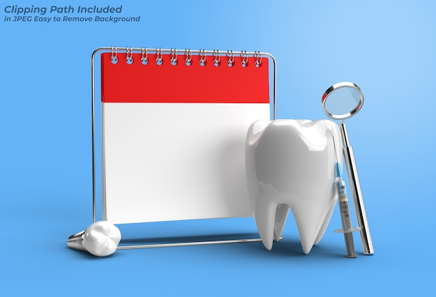 Consulta médica com implantes dentários cirurgia conceito pen tool criado clipping path incluído no jpeg easy to composite.