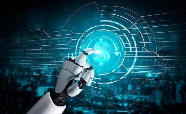 Consultor de investimentos e dinheiro em robôs