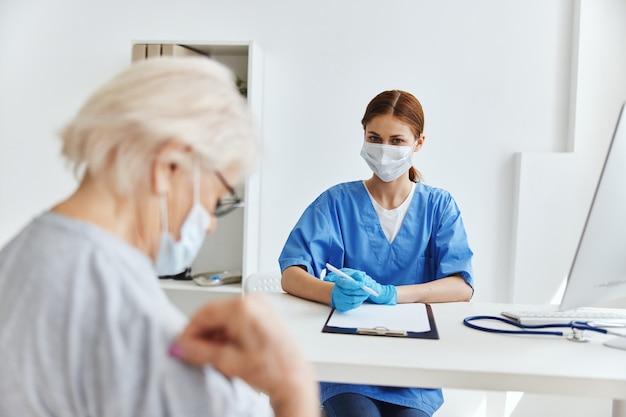 Consultório médico de exame profissional médica