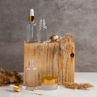 Conta-gotas de óleo para a pele e recipientes de creme facial