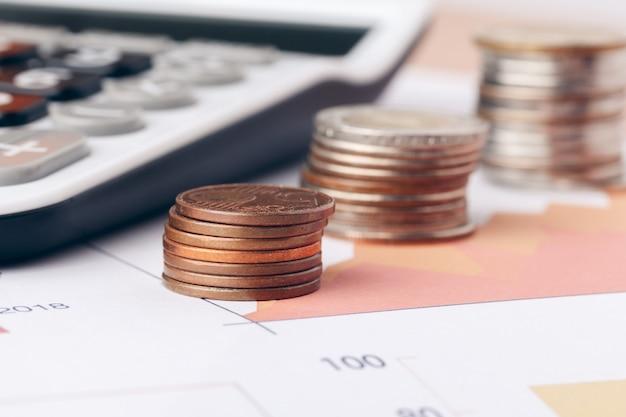 Contabilidade no escritório. finanças empresariais e conceito de contabilidade