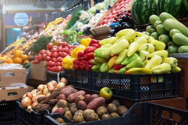 Contador de mercado de fazendeiro vegetal