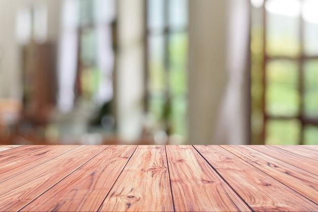 Contador de recepção de mesa de madeira ou contador de dinheiro