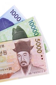 Contas em moeda coreana won
