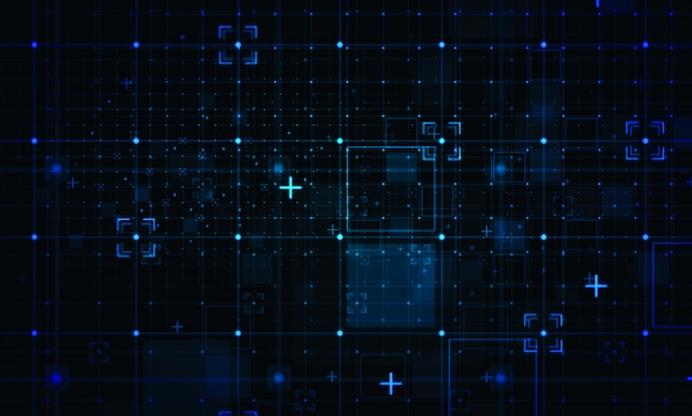 Contexto de grade digital. conceitos de tecnologia de negócios