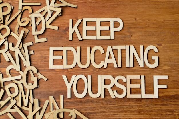 Continue educando-se