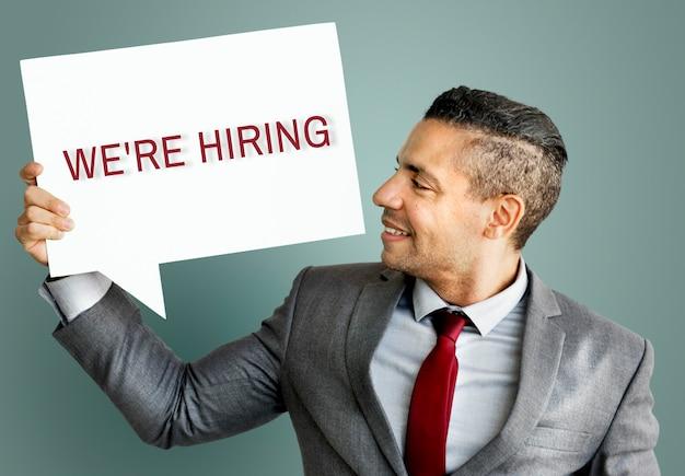 Contratação de carreira emprego conceito de recursos humanos