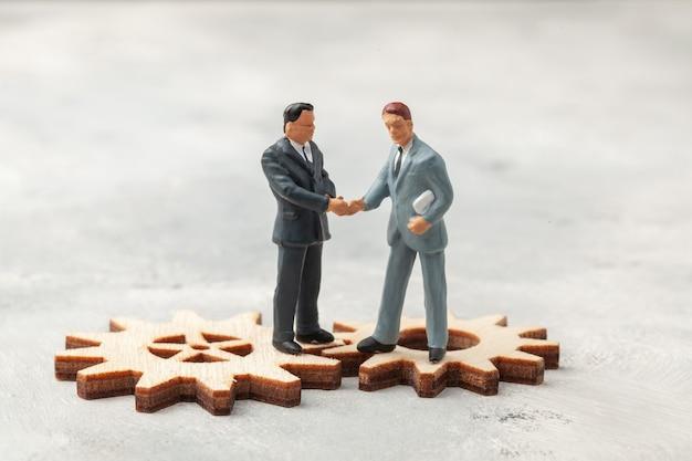 Contratação de pessoal seleção do líder dos empresários gestores em processos de negócios adequados