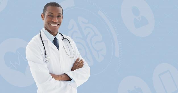 Contrato de cabelos castanhos corporativa médico sofisticado