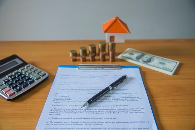 Contrato de venda de um novo lar (lorem ipsum - texto falso)