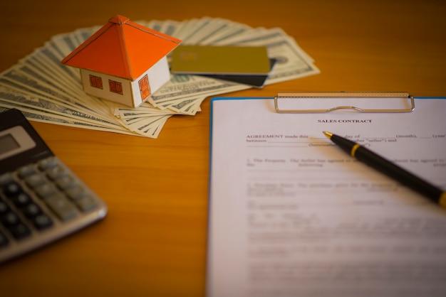 Contrato para a venda de uma nova casa