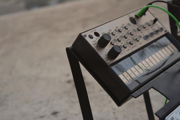Controlador de música em primeiro plano