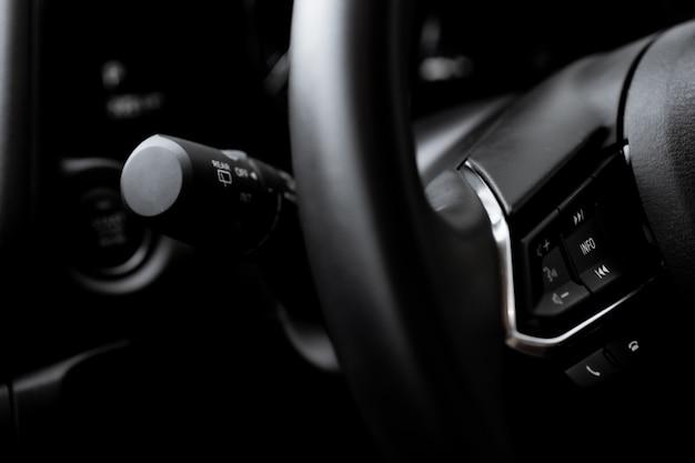 Controle de volante close-up