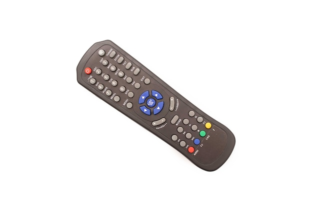 Controle remoto da tv isolado em um fundo branco