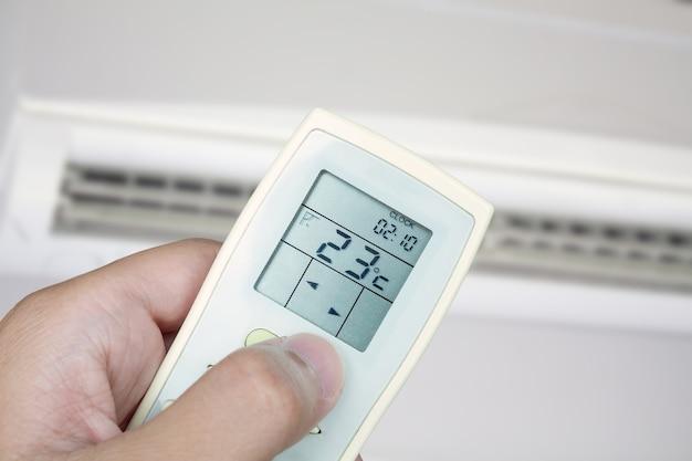 Controle remoto manual com fundo condicionador