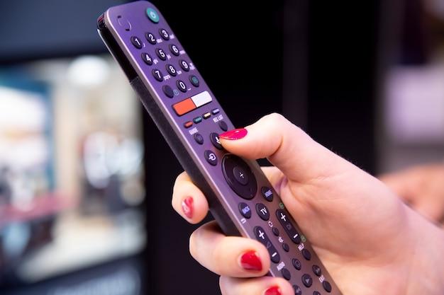 Controle remoto para receptor de satélite smart tv hd com microfone e controle de voz feminino