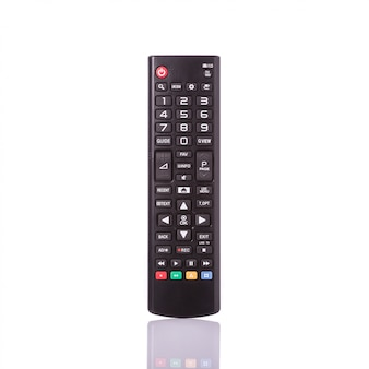 Controle remoto preto para televisão.