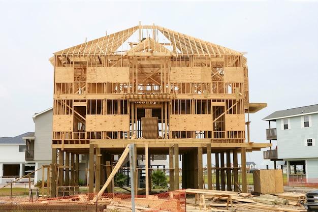 Contruction da casa de madeira, estrutura de madeira americana