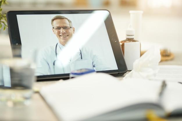 Conveniência de entrar em contato com um especialista em saúde de casa