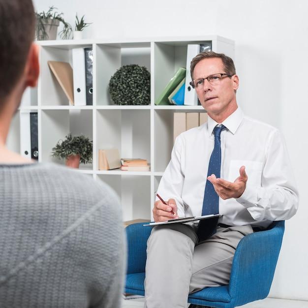 Conversa com um paciente