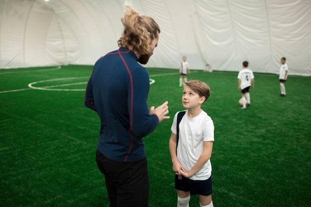 Conversando com o treinador