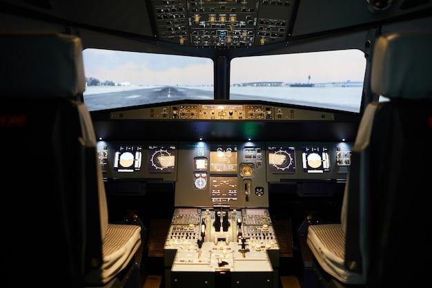 Convés de vôo moderno com iluminação