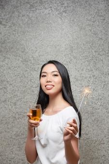 Convidado na festa de ano novo