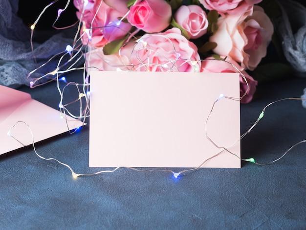Convite de cartão de dia dos namorados