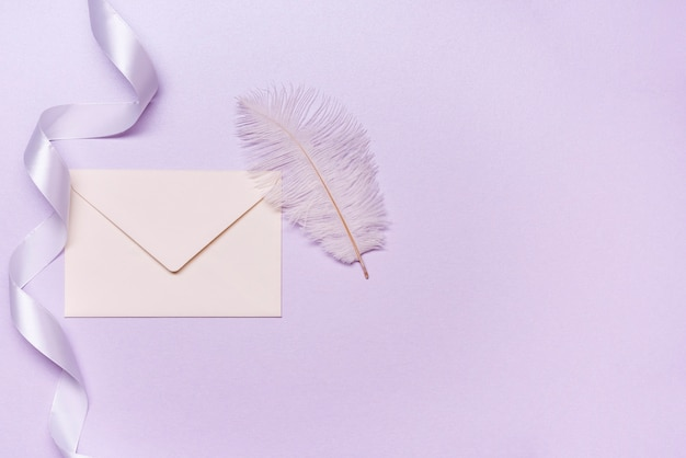 Convite de casamento de papelaria com espaço de cópia