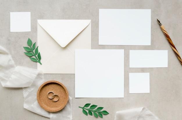 Convite de casamento elegante plana leigos