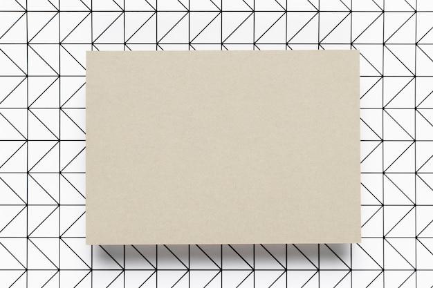 Convite de casamento em branco envelope retrô
