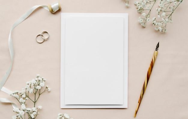 Convite de casamento vazio plana leigos