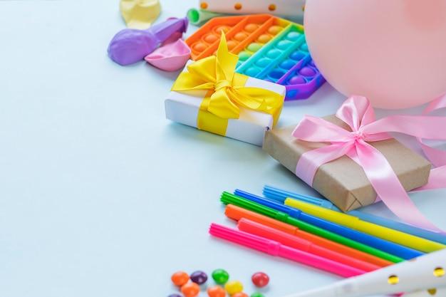 Convite de festa colorido