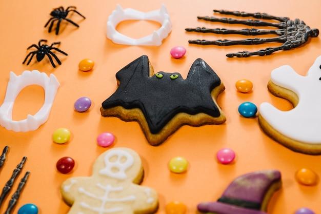 Cookie de morcego assustador