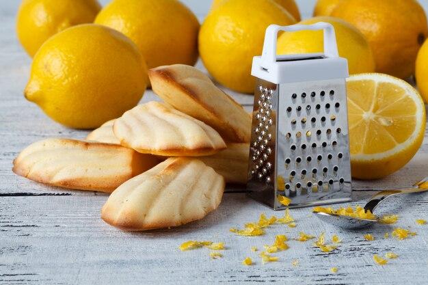 Cookie madeleine de limão