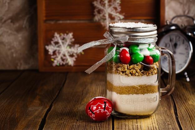 Cookie mix como um presente de natal