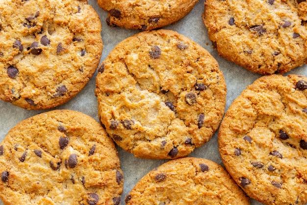 Cookies com chocolate. doces. café da manhã. receita.