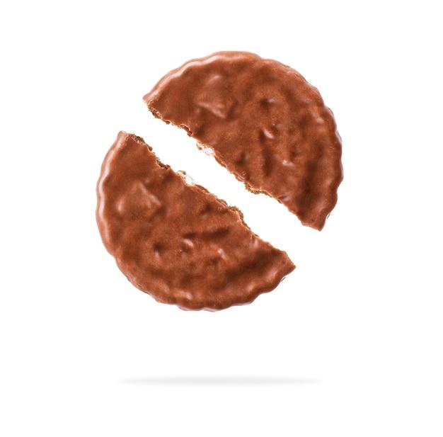 Cookies de chocolate contra um fundo branco