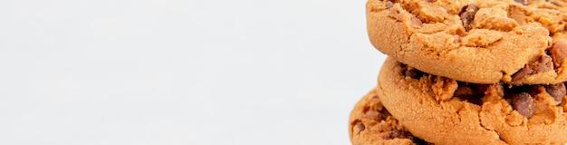 Cookies de close-up copiam espaço