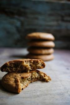 Cookies de flocos de aveia