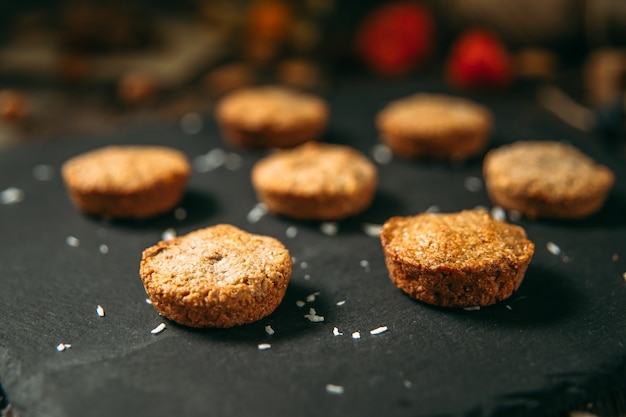 Cookies de sobremesa saudável doce aveia