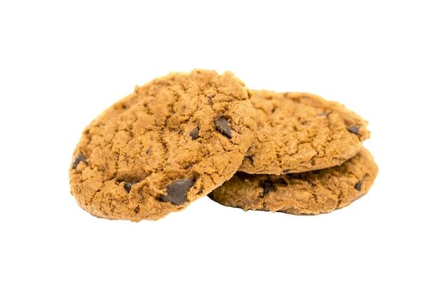 Cookies isolados em fundo branco Foto Premium