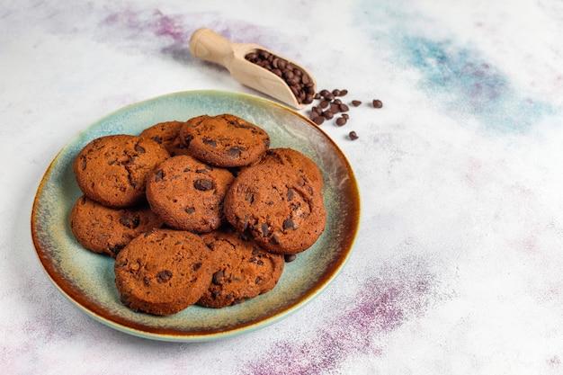 Cookies sem glúten de chocolate.
