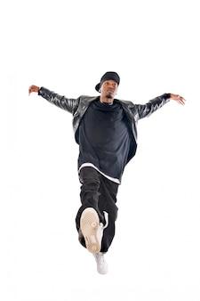 Cool jovem hip-hop em branco